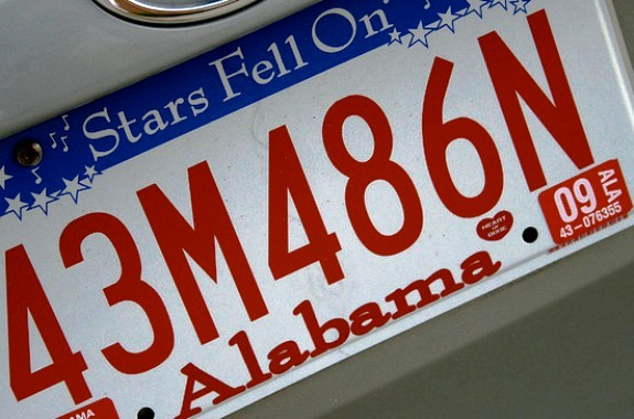 Alabama License Plate