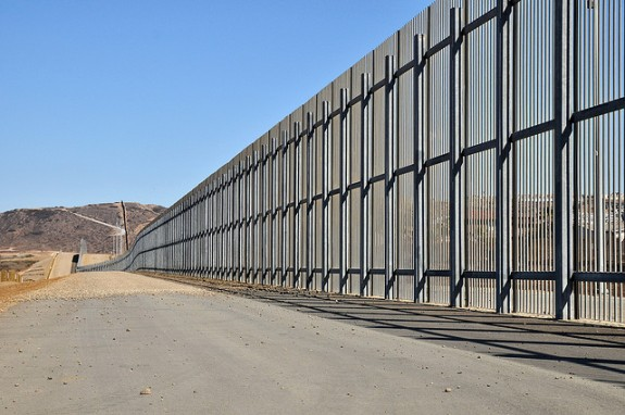 United States fence at Mexican Border