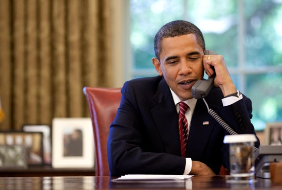 President Obama at his desk