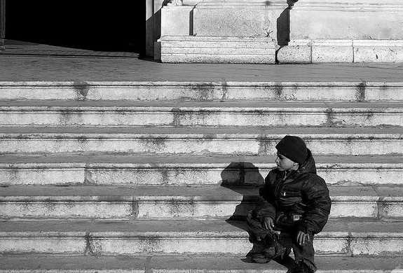 A Child on a Stoop
