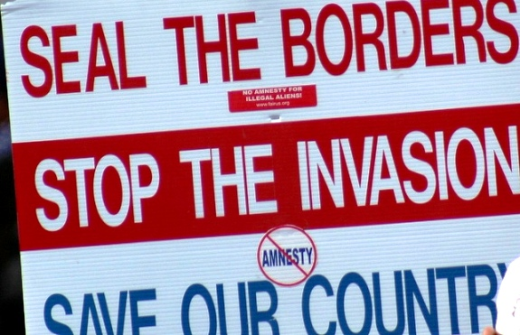 Anti-Immigration Protestors