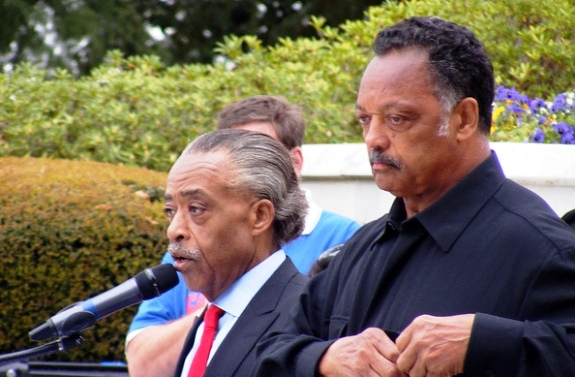 Reverend Jesse Jackson and Reverend Al Sharpton