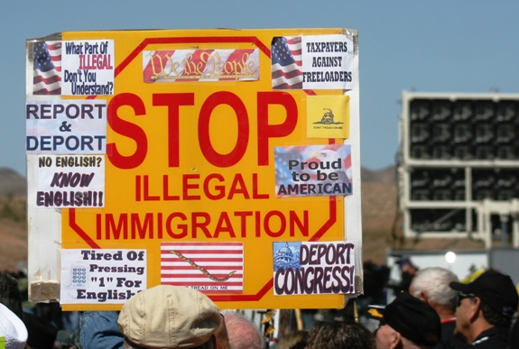 Stop Illegal Immigration Protesters